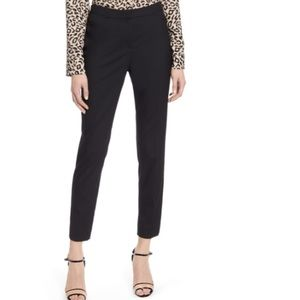 Halogen cropped pleated trousers